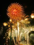 New year celebration firework. In Khon Kaen, Thailand royalty free stock photo