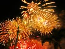 New year celebration firework. In Khon Kaen, Thailand royalty free stock images