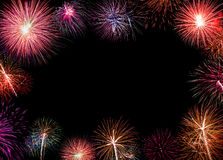 New Year celebration fireworks. Royalty Free Stock Photo