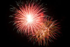 New Year celebration fireworks. Stock Photography