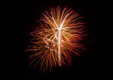 New Year celebration fireworks. Stock Image