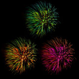 New Year celebration fireworks Royalty Free Stock Image