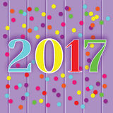 2017 new year celebration greeting card, banner, vector illustration Stock Photos