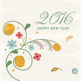 New Year 2016 celebration greeting card design. Royalty Free Stock Photography