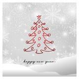Happy new year greeting card vector illustration vector illustration