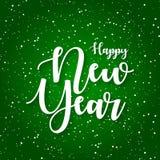 Happy new year greeting card vector illustration stock illustration