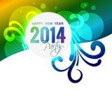 New year celebration. Happy new year 2014 illustration Stock Image