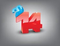 New year 2014 celebration Royalty Free Stock Image