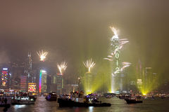 New Year Celebration in Hong Kong 2012. New Year Celebration in Hong Kong - 2011/2012 Stock Photo