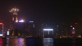 New Year Celebration in Hong Kong 2014 stock video