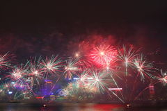 New Year Celebration in Hong Kong 2016 Stock Photos
