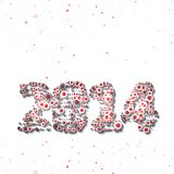 New Year celebration illustration Royalty Free Stock Photos