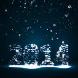 New Year celebration illustration. Colorful lights elements Royalty Free Stock Image