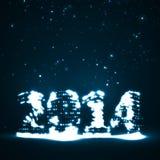 New Year celebration illustration. Colorful lights elements Stock Image