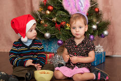 New Year celebration for kids Royalty Free Stock Photo