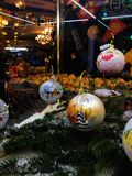 New year celebration in Moscow, decorations in the GUM store. New year celebration in Moscow, in the GUM store, bright decorations and Christmas decorations box royalty free stock photos