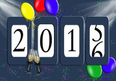 New Year 2016 celebration odometer Royalty Free Stock Photography