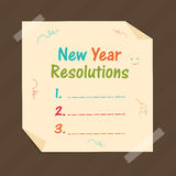 New Year celebration with resolution. Stock Photos