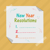 New Year celebration with resolution. Stock Photography