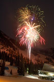 New Year celebration at ski resort Royalty Free Stock Photography