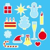 New year celebration stickers set Royalty Free Stock Photos