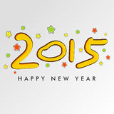New Year 2015 celebration with stylish text. Royalty Free Stock Photos