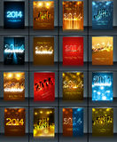 New year 2014 celebration template brochure collec Stock Photography