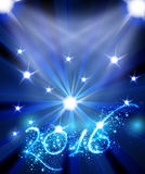New Year 2016 celebration template. Easy all editable Stock Photo