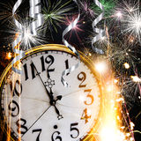 New Year celebration theme. With fireworks Royalty Free Stock Photos