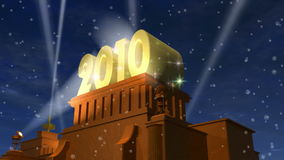 New Year 2010 celebration title stock footage