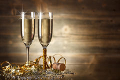 New Year Celebration Stock Photo