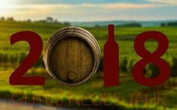 New Year Celebration with wine 2018 Stock Photos