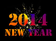 2014 New Year Celebration Royalty Free Stock Photography
