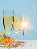 New Year champagne Royalty Free Stock Photos