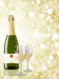 New year champagne Royalty Free Stock Photography