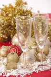 New Year. Champagne Royalty Free Stock Photography