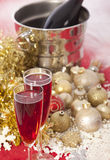 New Year. Champagne Royalty Free Stock Images