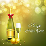 New Year champagne background. EPS 10 Stock Photos