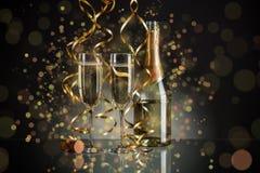 New Year champagne stock photo