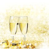 New year champagne Stock Images