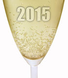 2015 new year champagne glass Stock Image