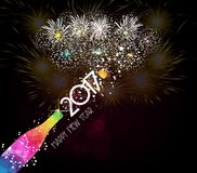 New year champagne toast 2017 background.  Stock Images