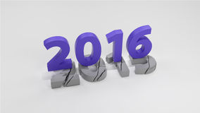 2016 New year change concept. 3d render Stock Illustration