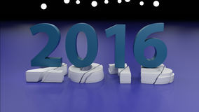 2016 New year change concept. 3d render Royalty Free Illustration
