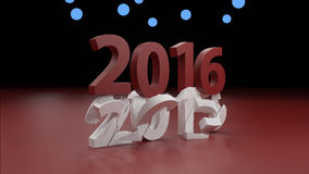 2016 New year change concept. 3d render Stock Images