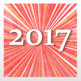 New year 2017. 2017, change represents the new year 2017 Stock Illustration