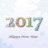 New year 2017. 2017, change represents the new year 2017 Vector Illustration