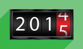 2015 new year. The changing 2015 new year stock illustration