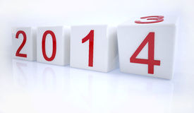 New year 2014. Changing to the new year 2014 from 2013 Royalty Free Stock Photos