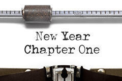 New Year and Chapter Royalty Free Stock Images